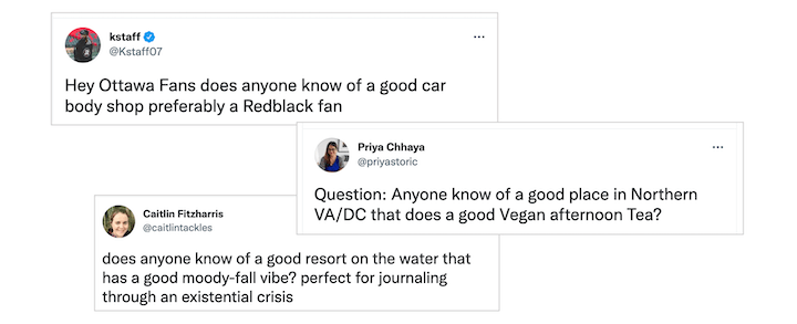 customer engagement strategies: examples of recommendation requests on social media