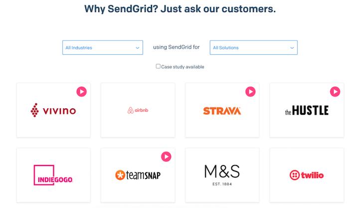 customer engagement strategy example: sendgrid case studies
