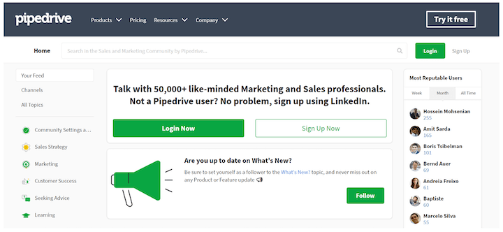 pipedrive's community as an example of growth marketing acquisition strategy