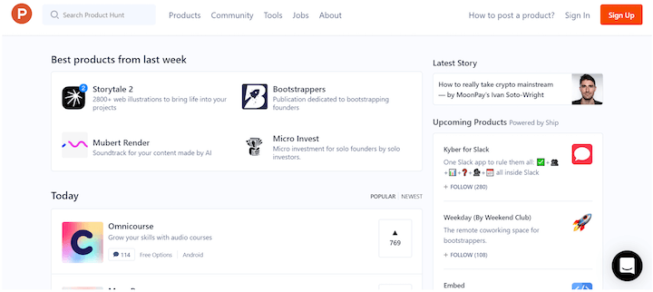 growth marketing strategy example with product hunt