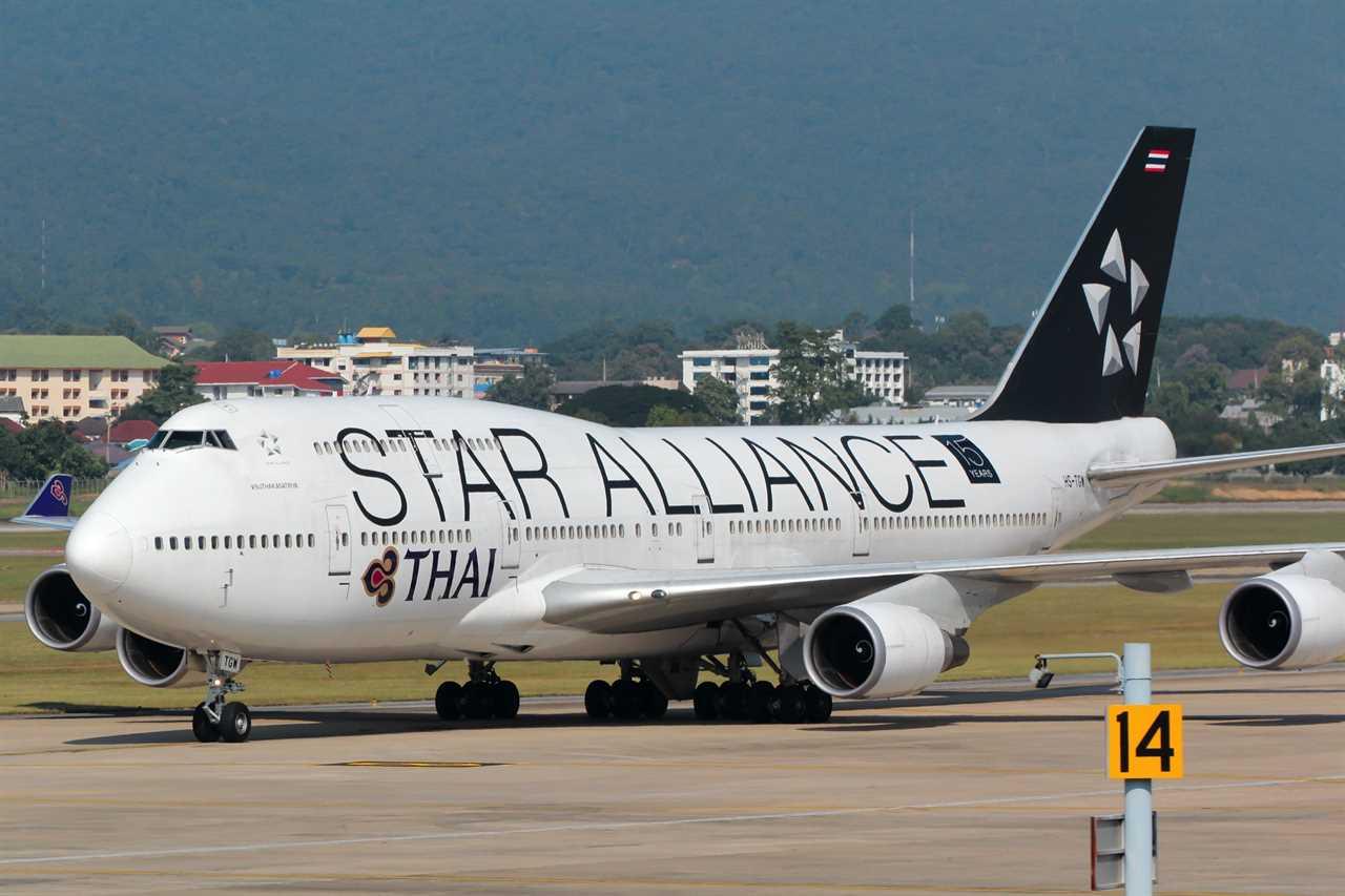 Thai Airways 747-400 with Star Alliance livery