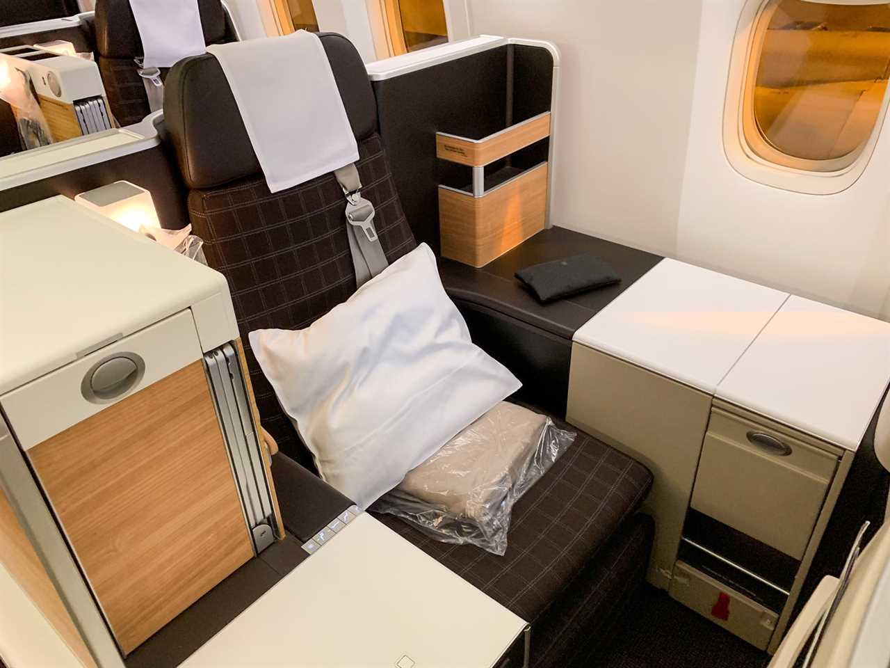 Swiss Air 777 Business Class