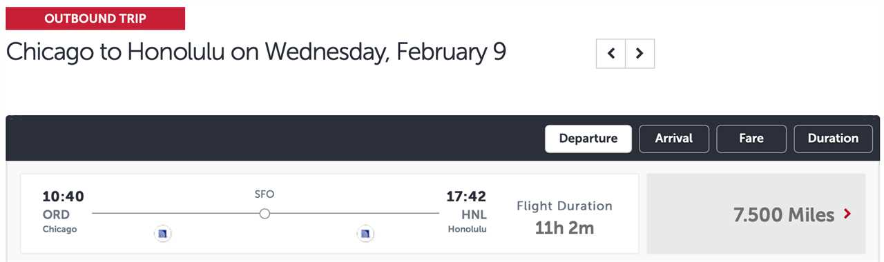 ORD to HNL via SFO Turkish Airlines award ticket