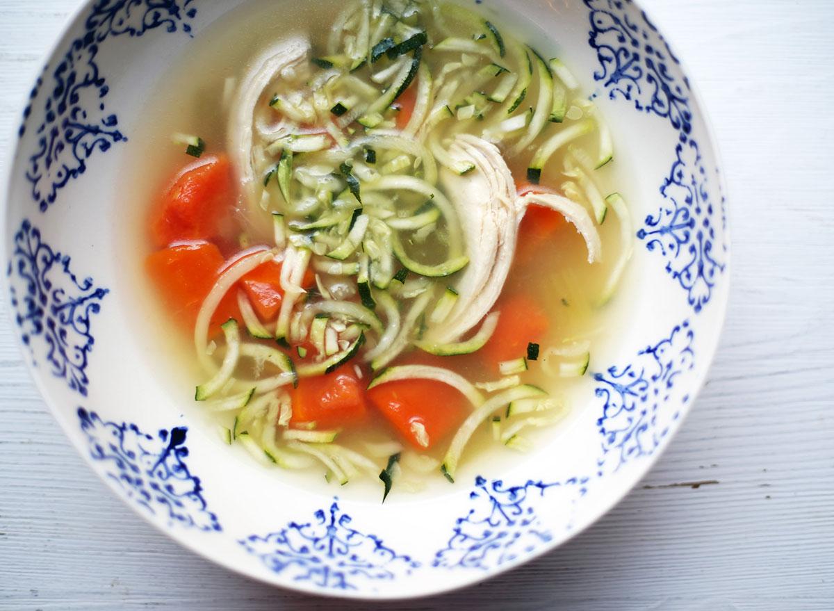 Whole30 instant pot chicken zoodle soup